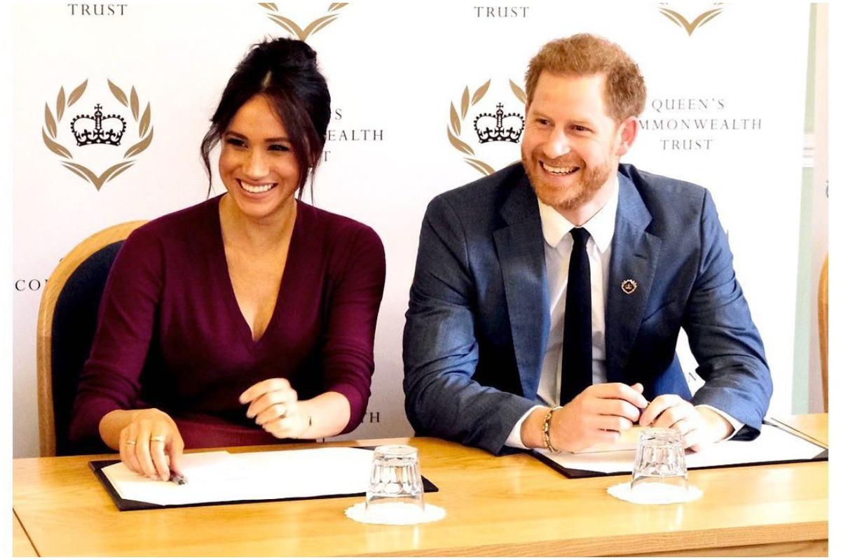 Imagem mostra Príncipe Harry e Meghan Markle