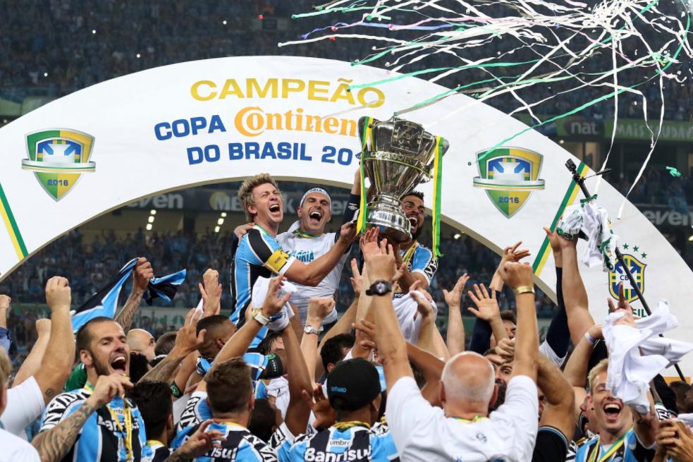 Grêmio é o maior finalista da Copa do Brasil