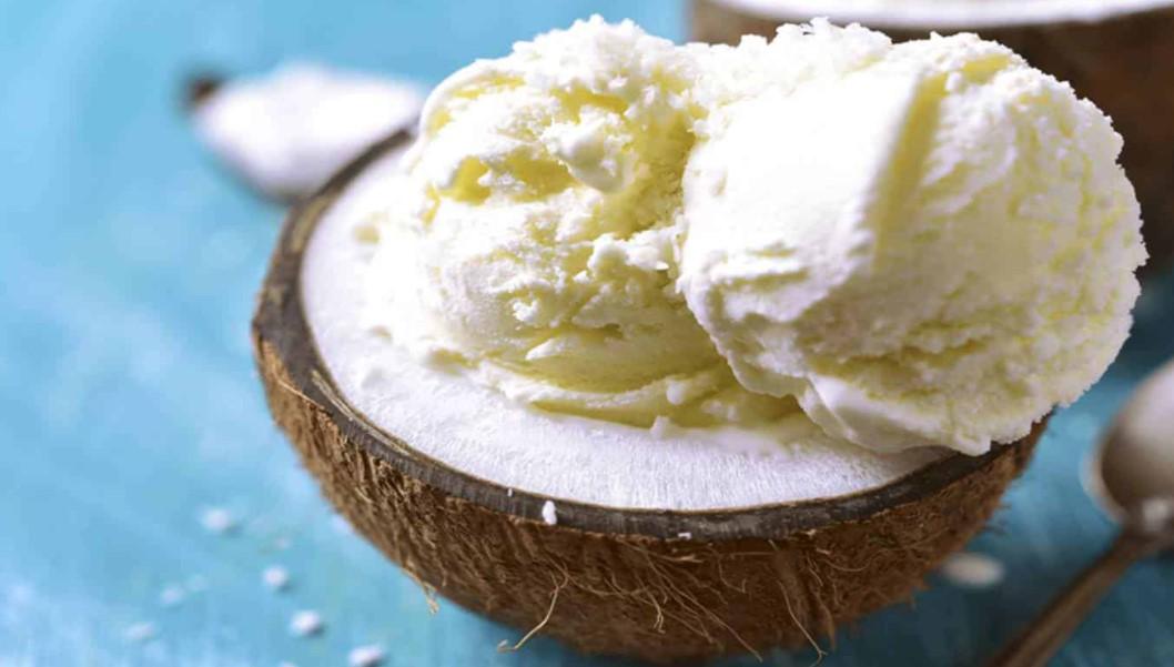 sorvete de água de coco