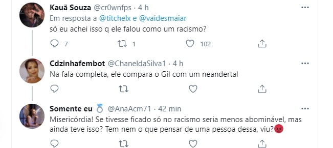 Tweet de fãs do BBB21