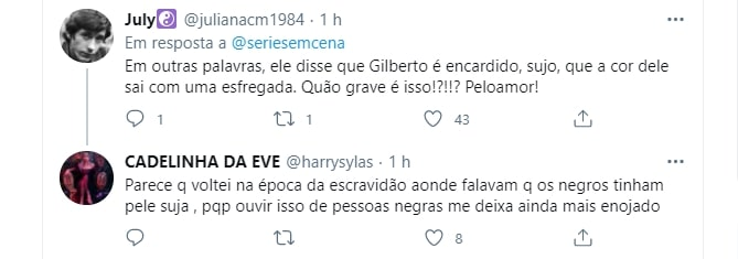 Tweet sobre acontecimentos do BBB21