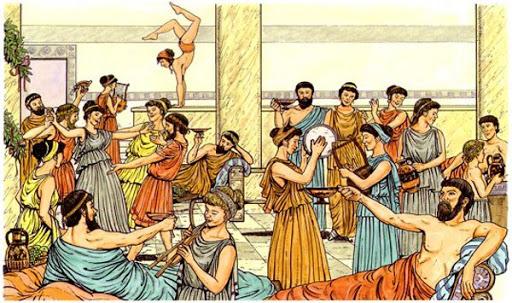 Imagem mostra ilustração da origem do carnaval