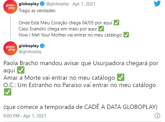 Novela Usurpadora no Globoplay