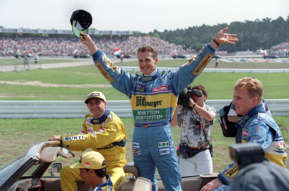 Schumacher gewann mit Benetton die F1-Saison 1994 und 95